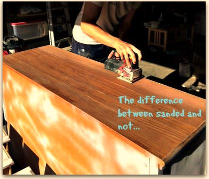 Sanding Dresser Top