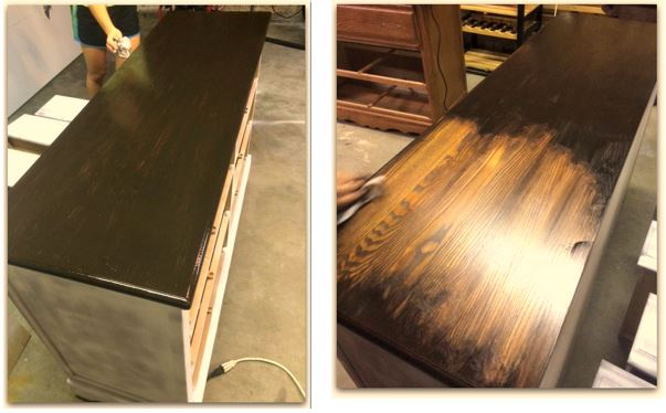 Staining Dresser Top