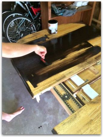 Staining Kitchen Table