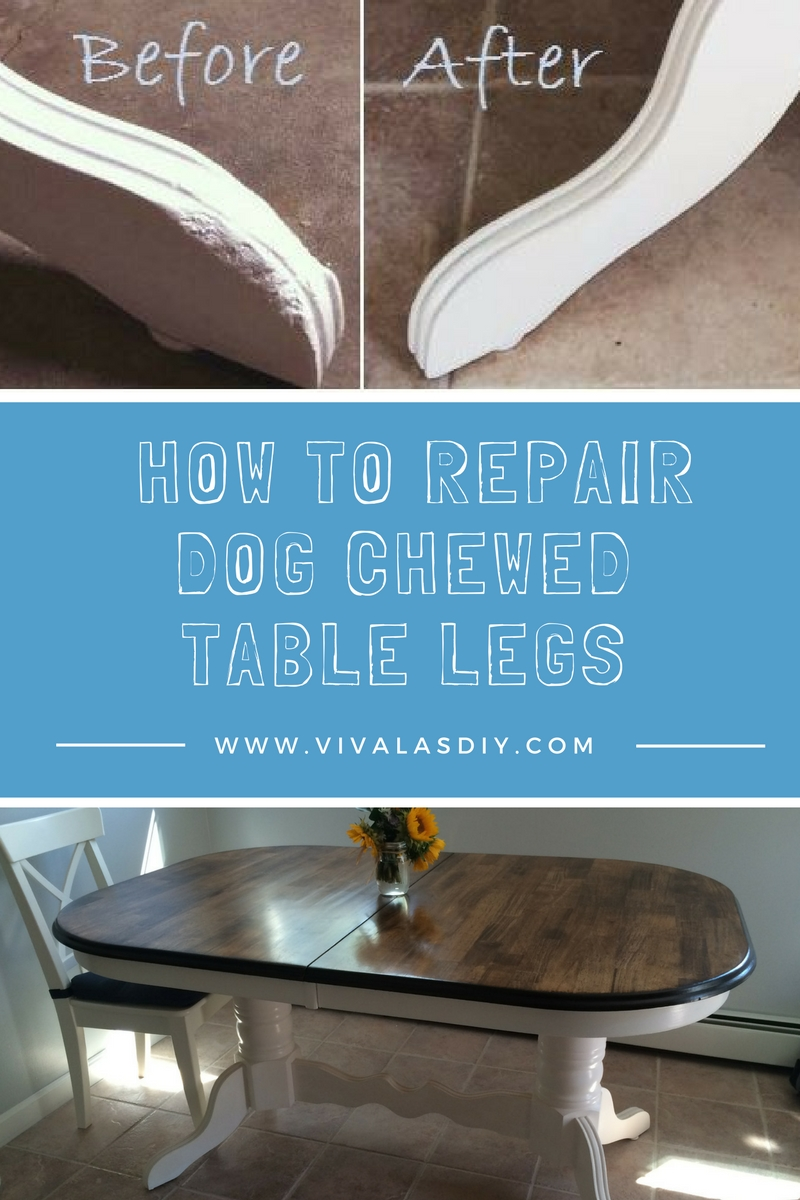 How To Repair Dog Chewed Wood